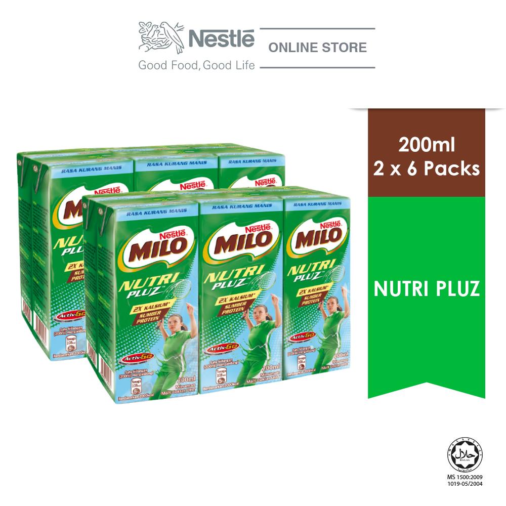 Nestle Milo Activ-go Nutripluz UHT 6x200ml Cluster Bundle of 2