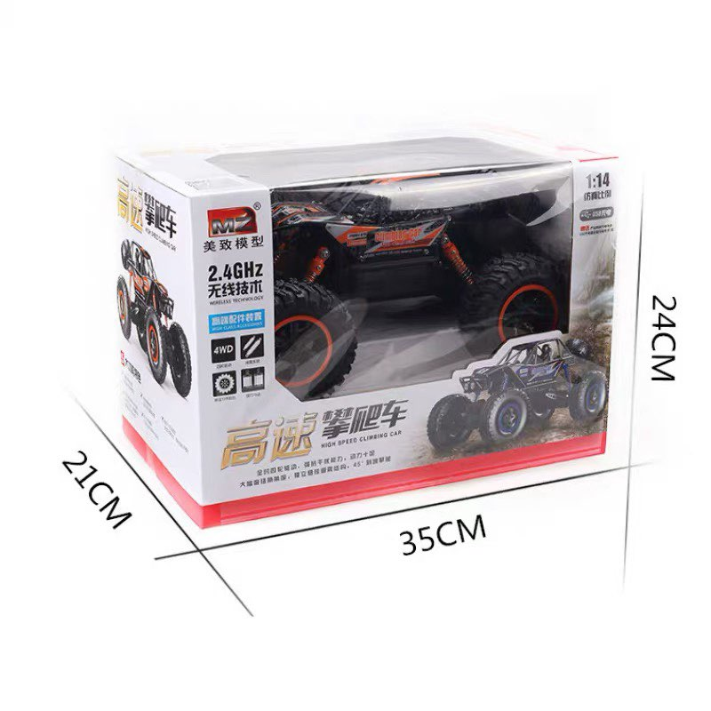 1:14 4WD Remote Control Car High Speed RC Electric Monster Truck OffRoad Vehicle