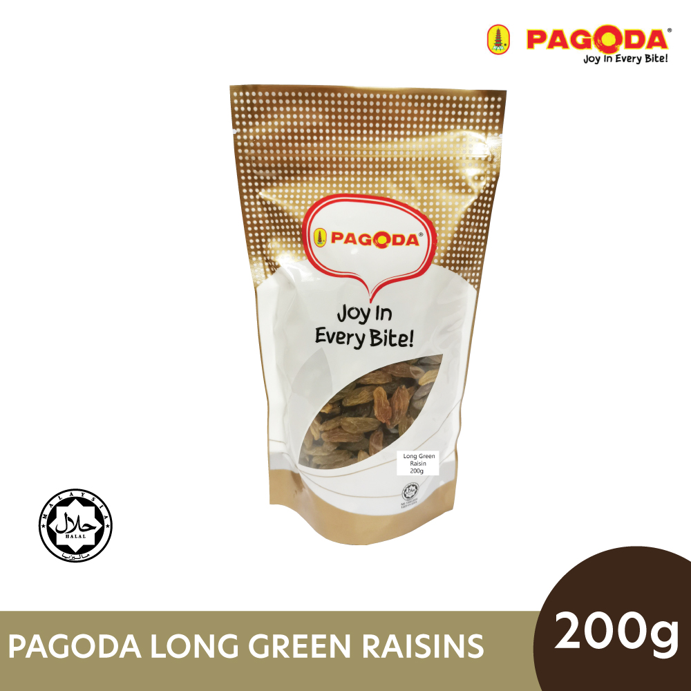 Pagoda Long Green Raisins 200g