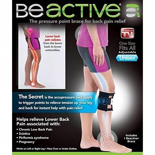 High Quality Unisex Left/Right Knee Pads Supports BEACTIVE PRESSURE POINT BRACE FOR BACK PAIN
