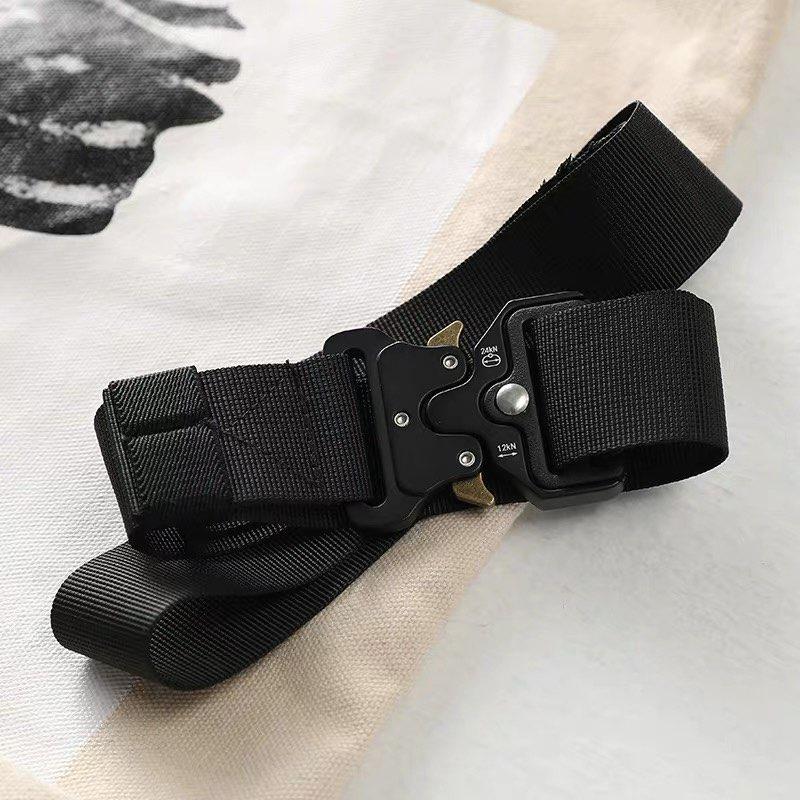 Women Canvas Belt Solid Color Casual Streetwear Waist Belts