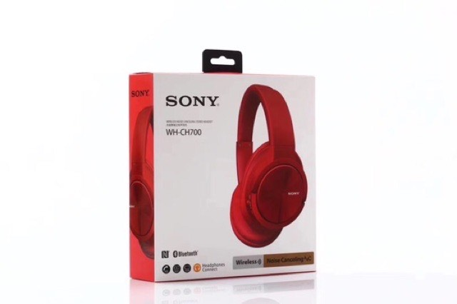 Sony WH-CH700 Headset Noise Reduction Wireless Bluetooth Headphone (RED)