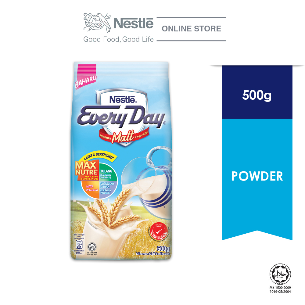 Nestle EVERYDAY Malt Powder 500g