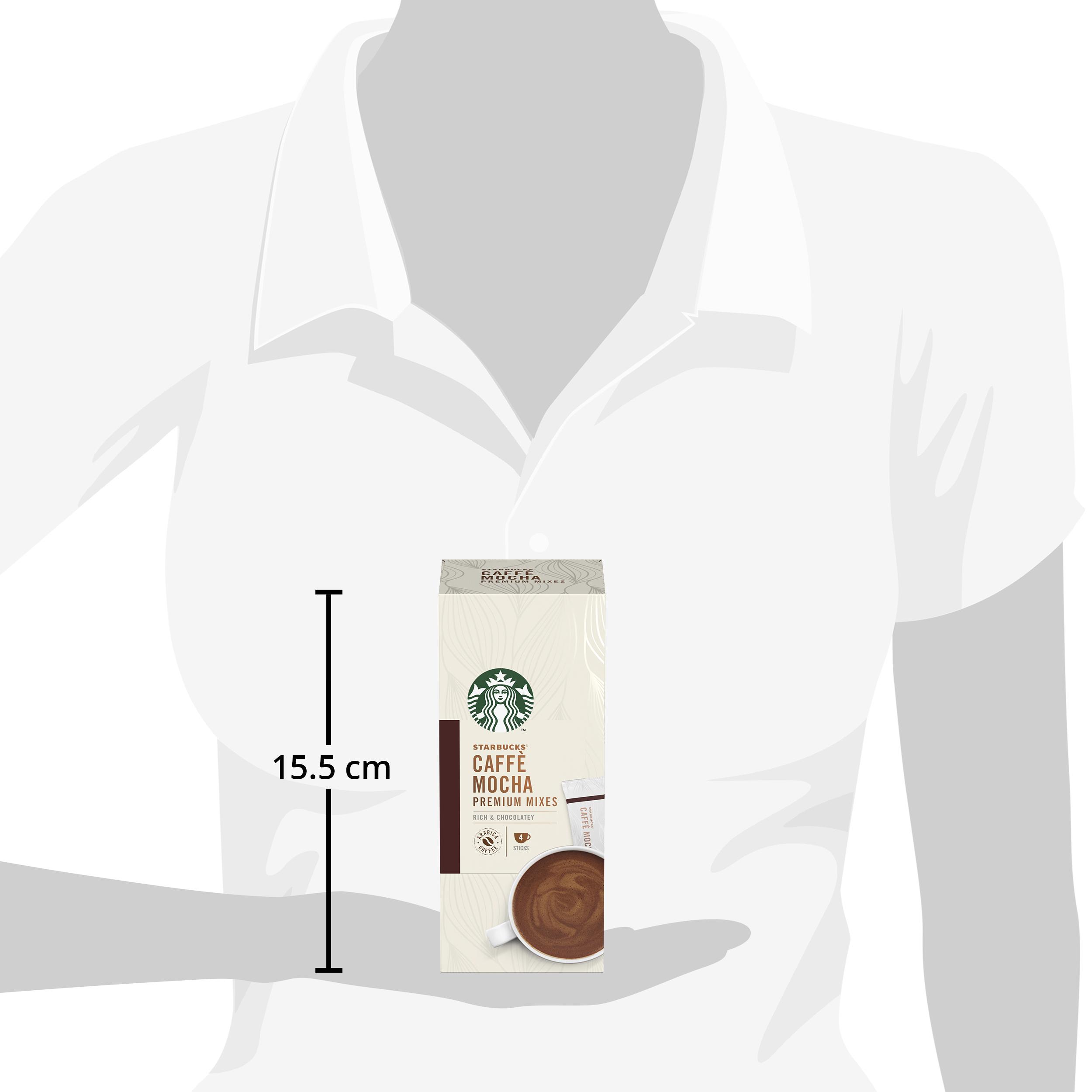 STARBUCKS® Caffè Mocha Premium Instant Coffee Mixes (4 Sticks/Box), Bundle of 2 ExpDate:DEC20
