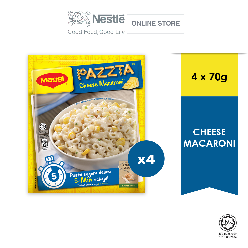 MAGGI PAZZTA Cheese Macaroni (70g), Bundle of 4 ExpDate:NOV20