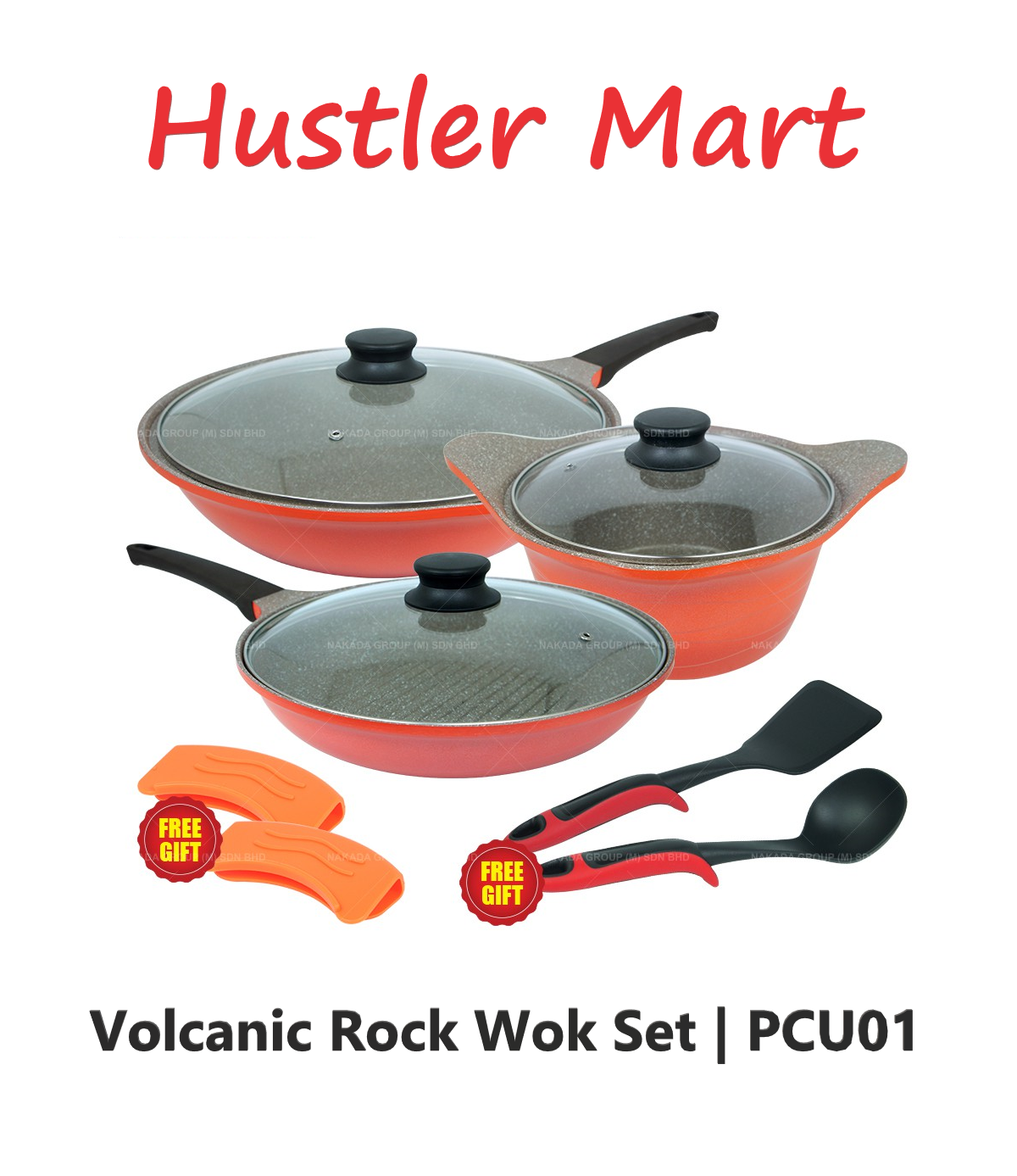 Cuoco Volcanic Rock Wok Set PCU01