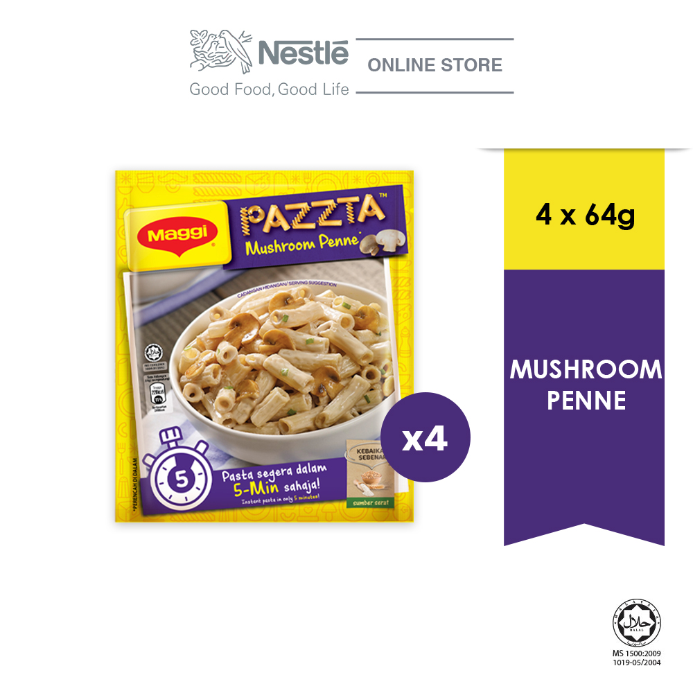 MAGGI PAZZTA Mushroom Penne (70g), Bundle of 4 ExpDate:DEC20