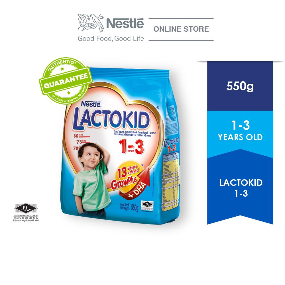 LACTOKID 1-3 without Probiotics Soft Pack 550g (Exp Date: Sep 2020)
