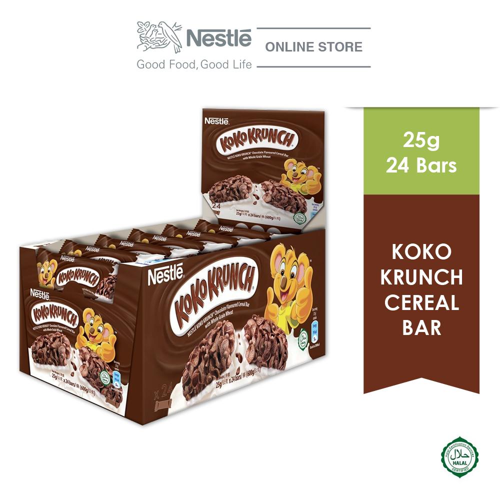 NESTLÉ KOKO KRUNCH Chocolate Cereal Bar 24 Bars 25g Each