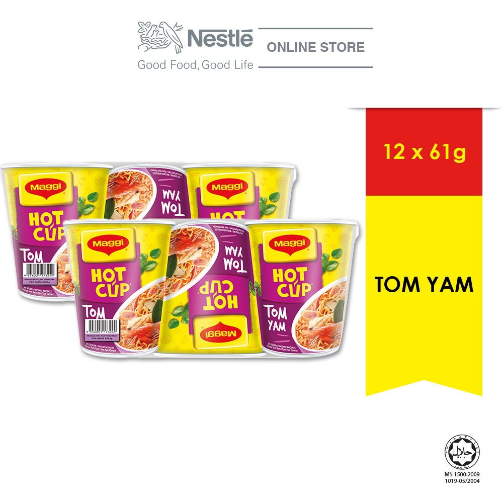 MAGGI Hot Cup Tom Yam 6 Cups 61g x 2 (Multipacks)