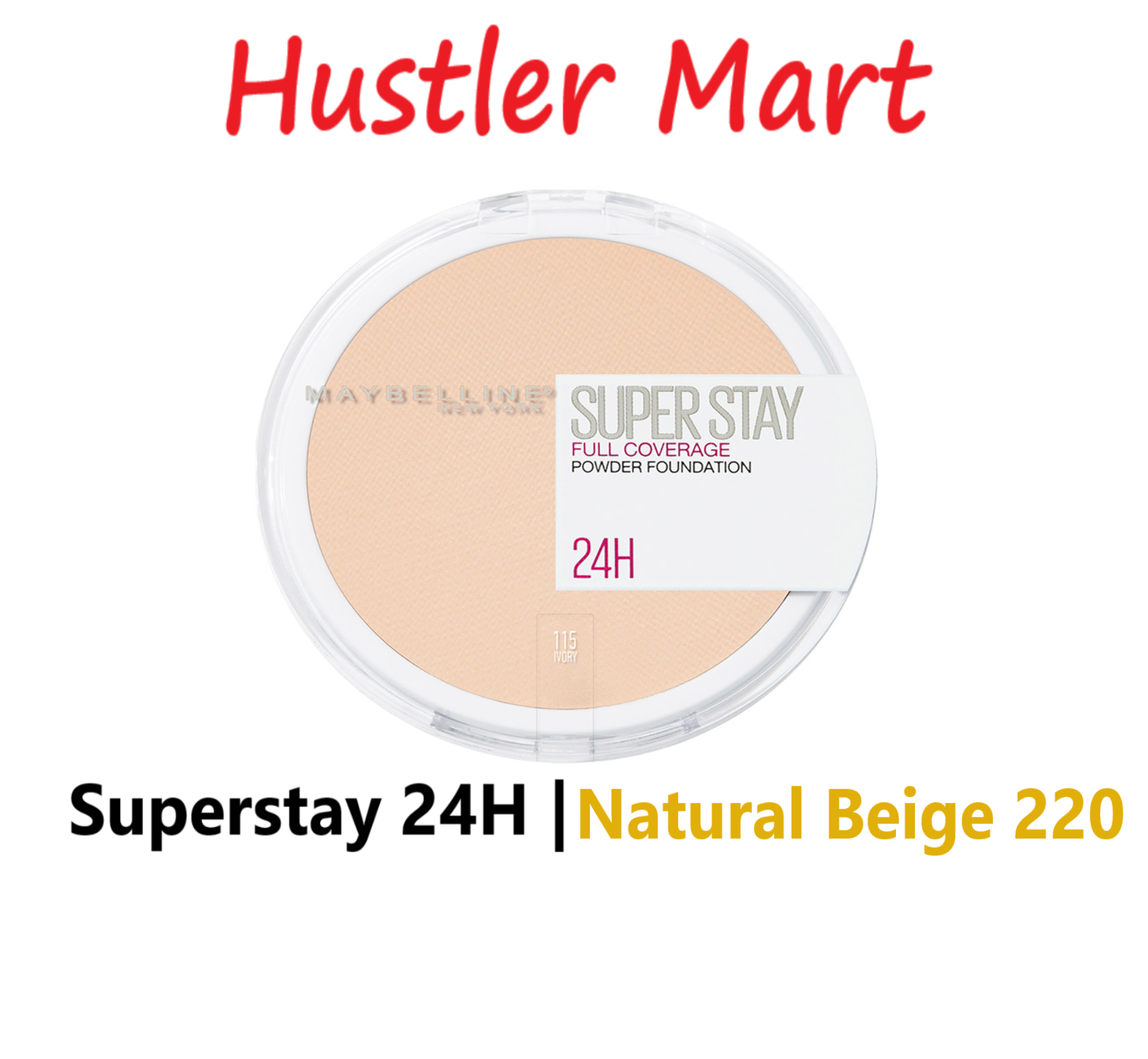 Maybelline Superstay 24H Full Coverage Powder Foundation - Natural Beige 220
