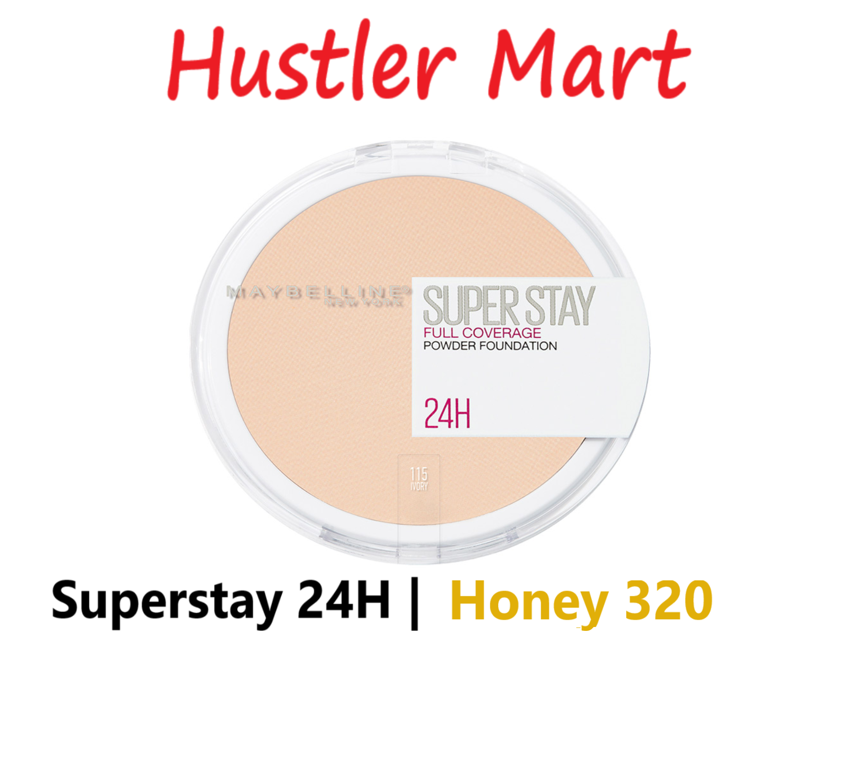 Maybelline Superstay 24H Full Coverage Powder Foundation - Honey 320