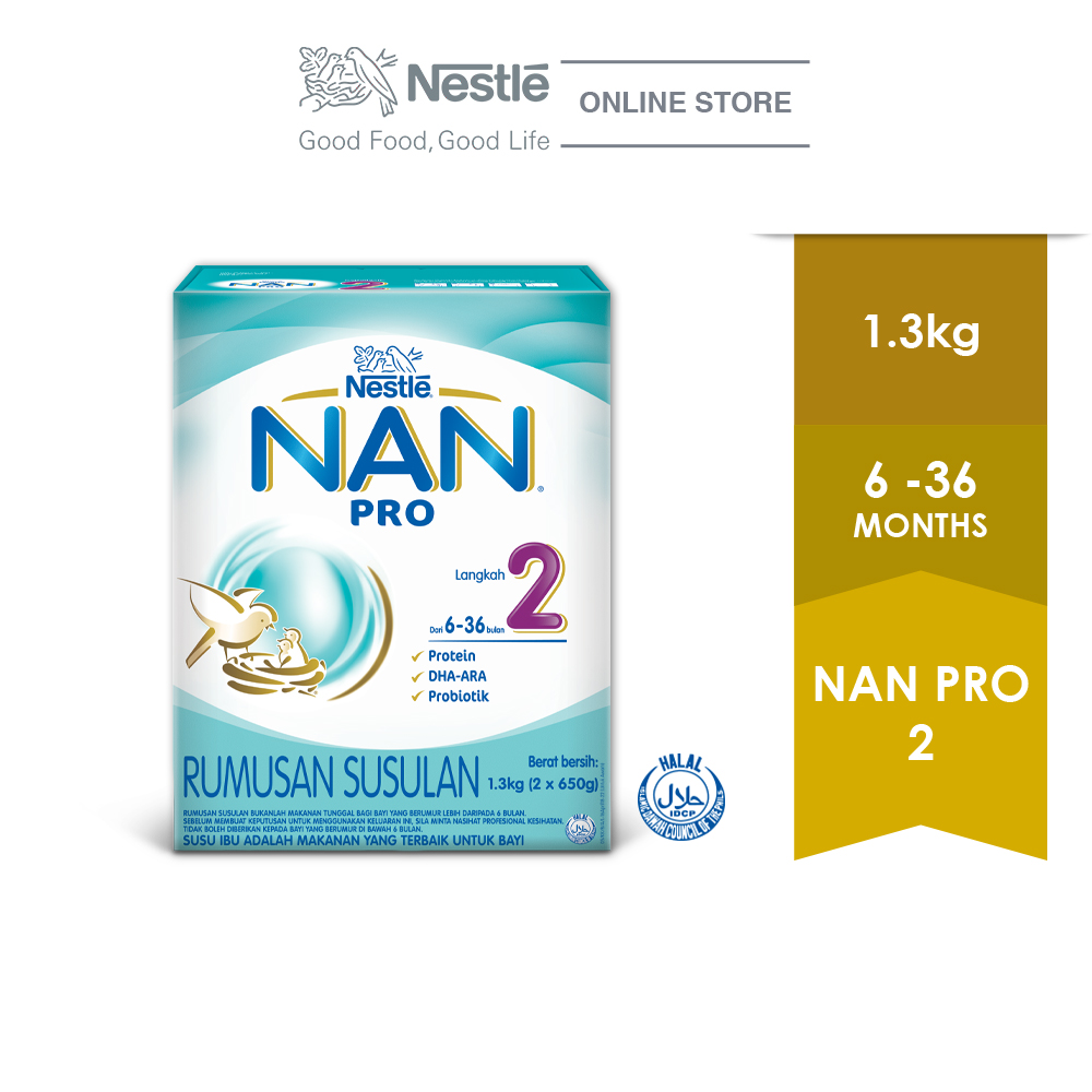 NAN PRO 2 Follow Up Formula Box Pack 1.3kg