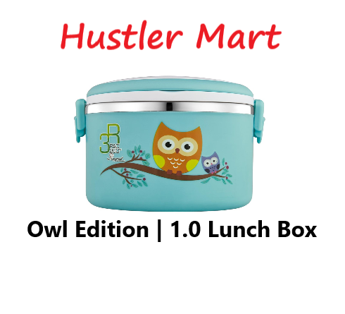 La gourmet PAC2GO 1L Owl Lunch Box - 304 Stainless Steel