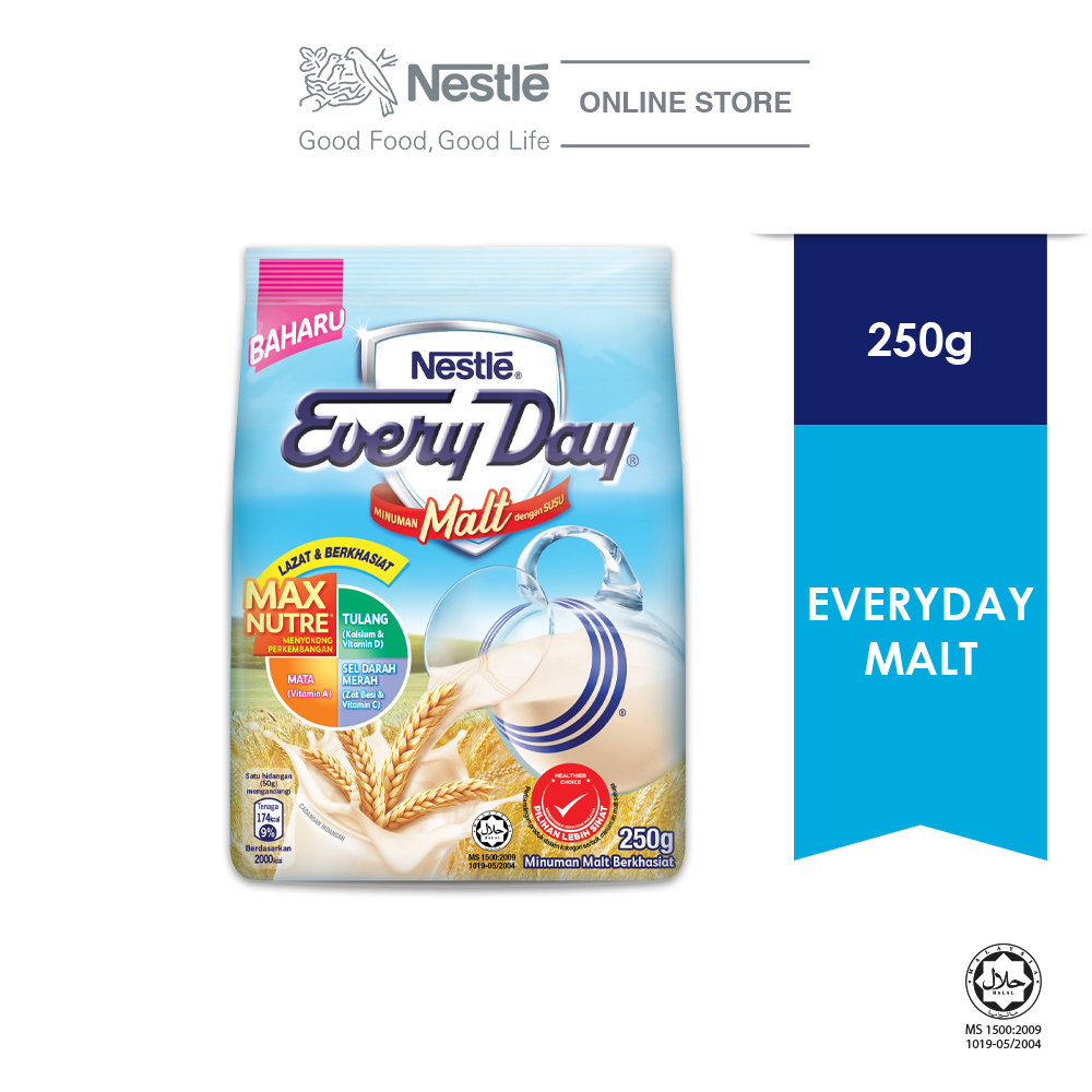 Nestle EVERYDAY Malt Milk Powder 250g