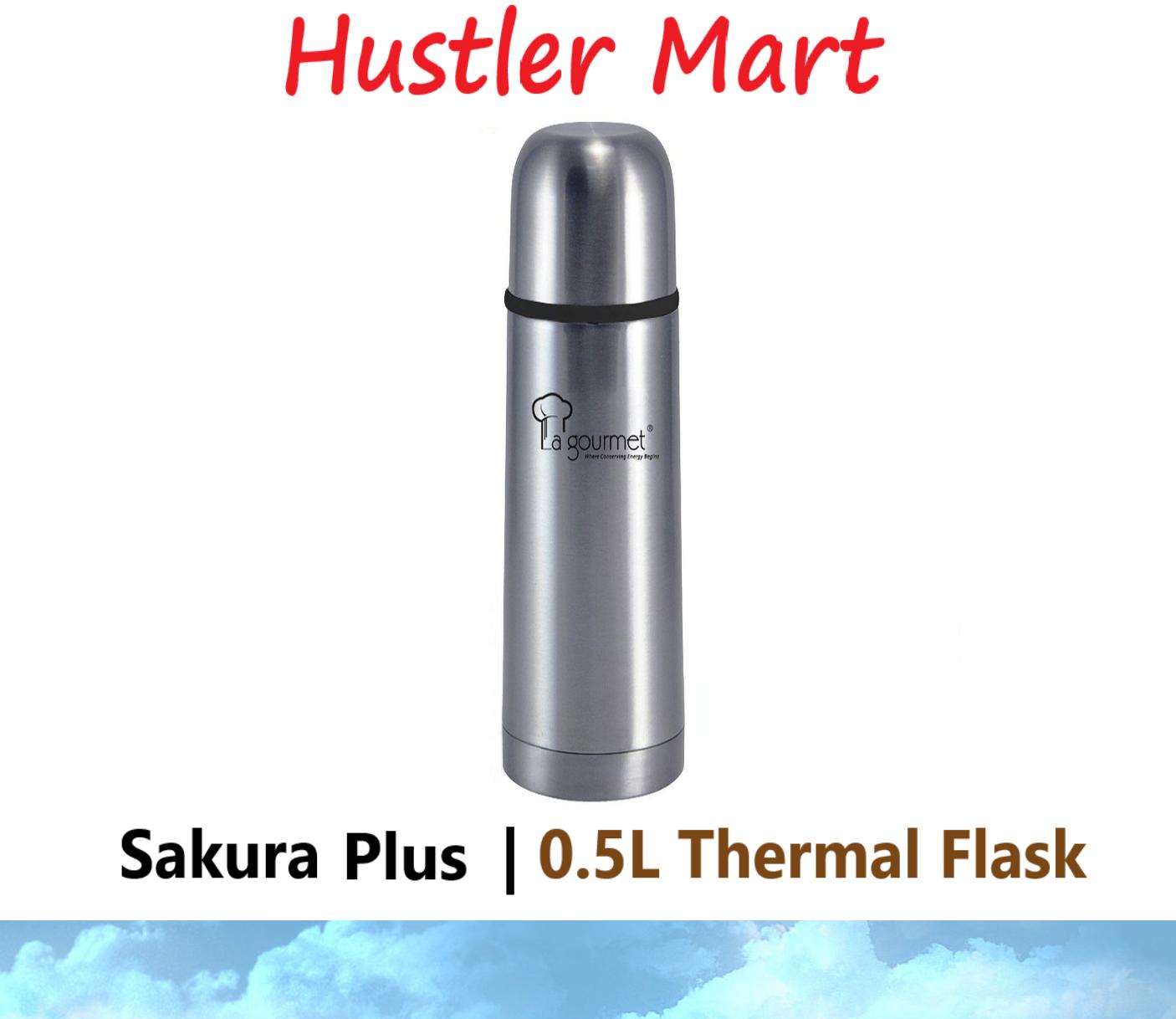 La gourmet Sakura Japan 0.5L Thermal Flask - Gun Metal