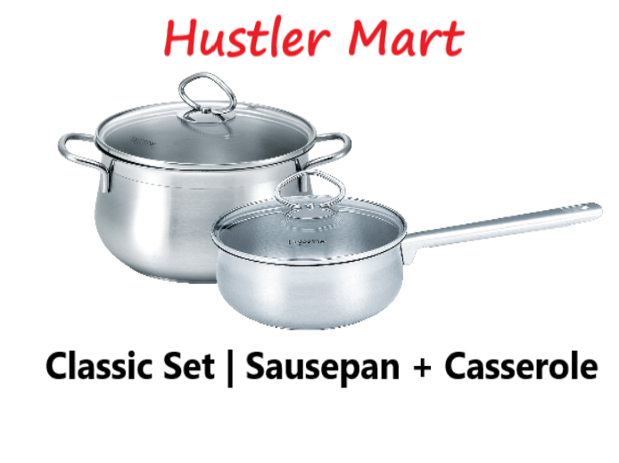 La Gourmet Classic 2pcs mini set - 14cm Sausepan +18cm Casserole