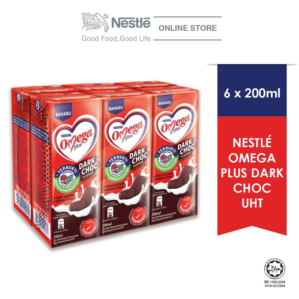 NESTLE OMEGA PLUS Dark Chocolate 6 Packs 200ml