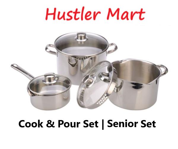 La gourmet Cook & Pour 3pcs Senior Set