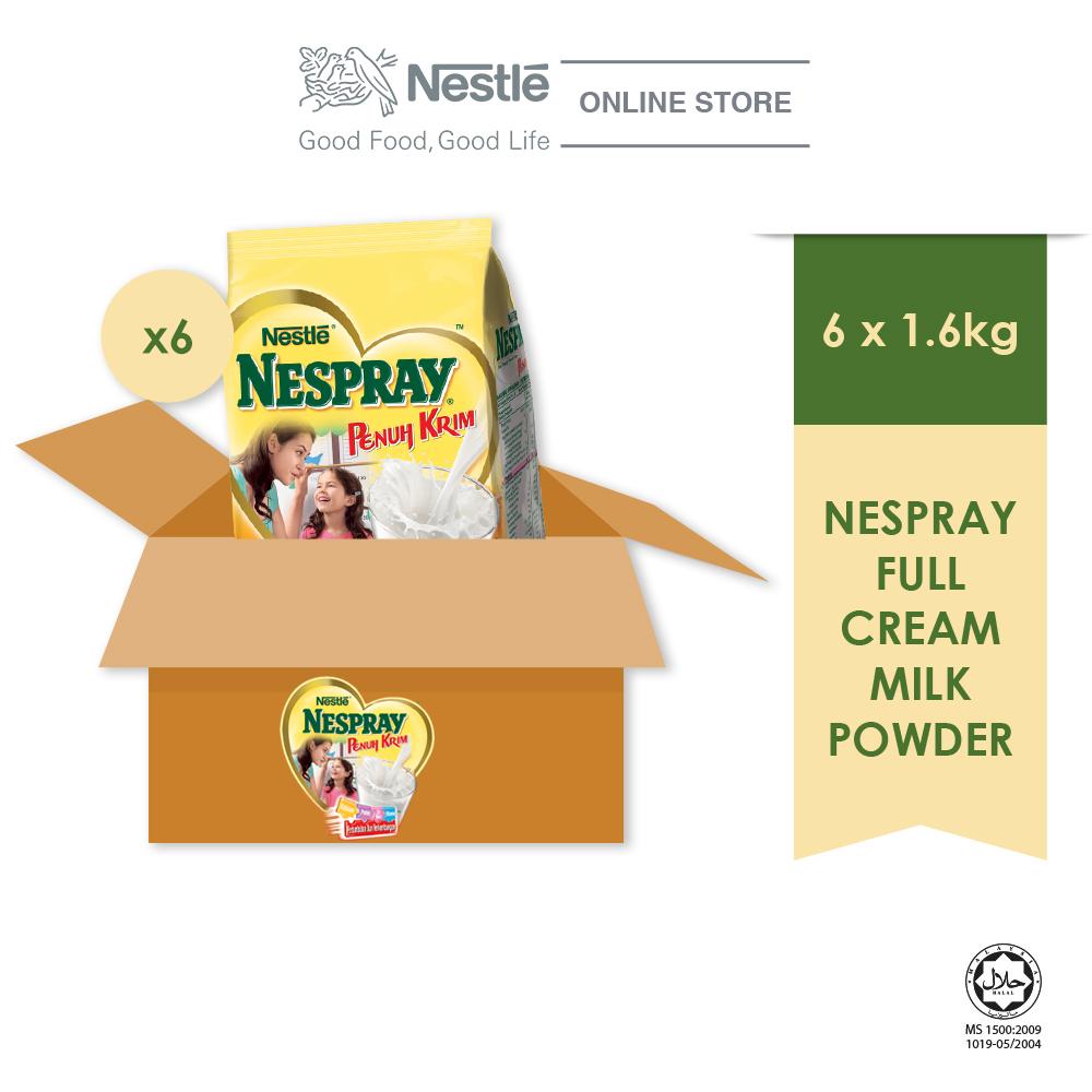 NESPRAY Full Cream Powder Softpack 1.6kg x 6packs (Carton)