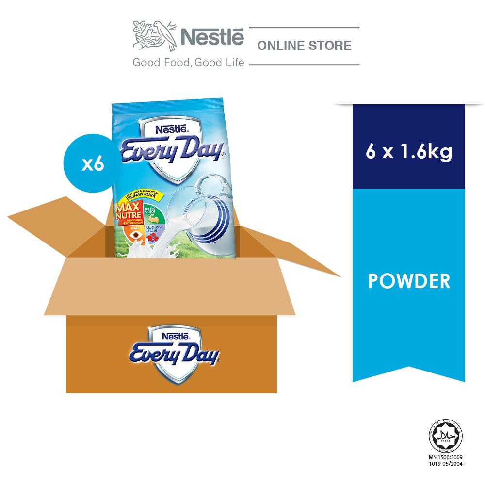 NestleᅠEveryday Powder Softpack 1.6kg x 6 packs (Carton)