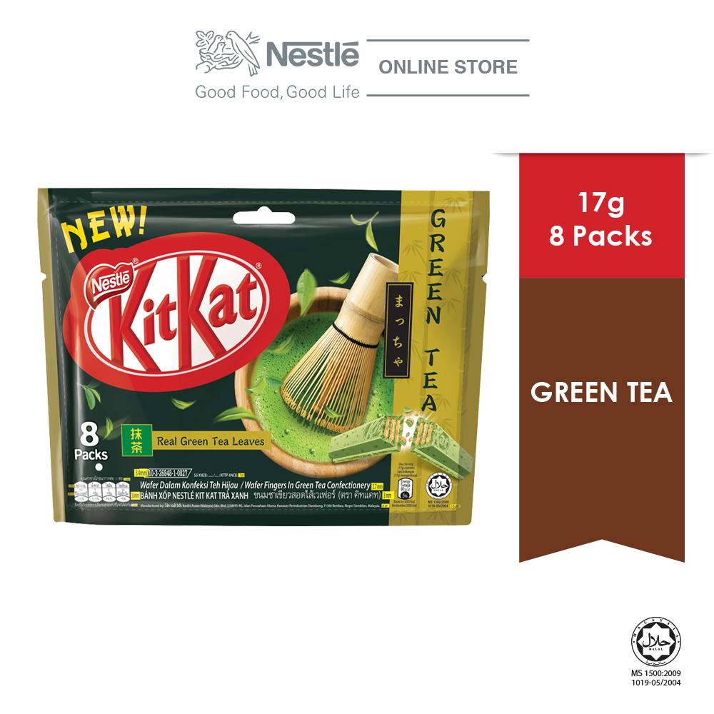 Nestle KITKAT 2-Finger Green Tea Pack, 8 pcs, (17g each)  ExpDate:DEC20