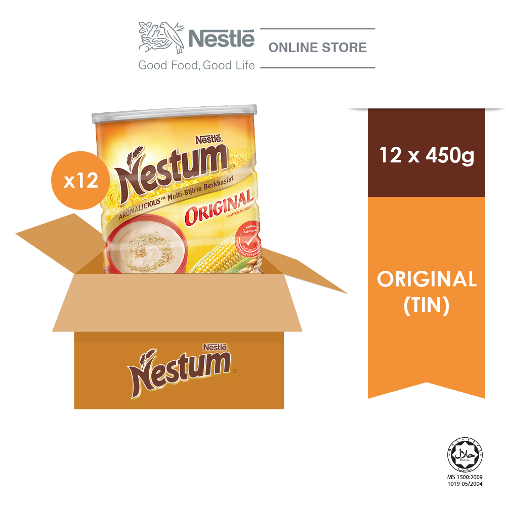 NESTLE NESTUM All Family Cereal Original Tin 450g x 12 tins
