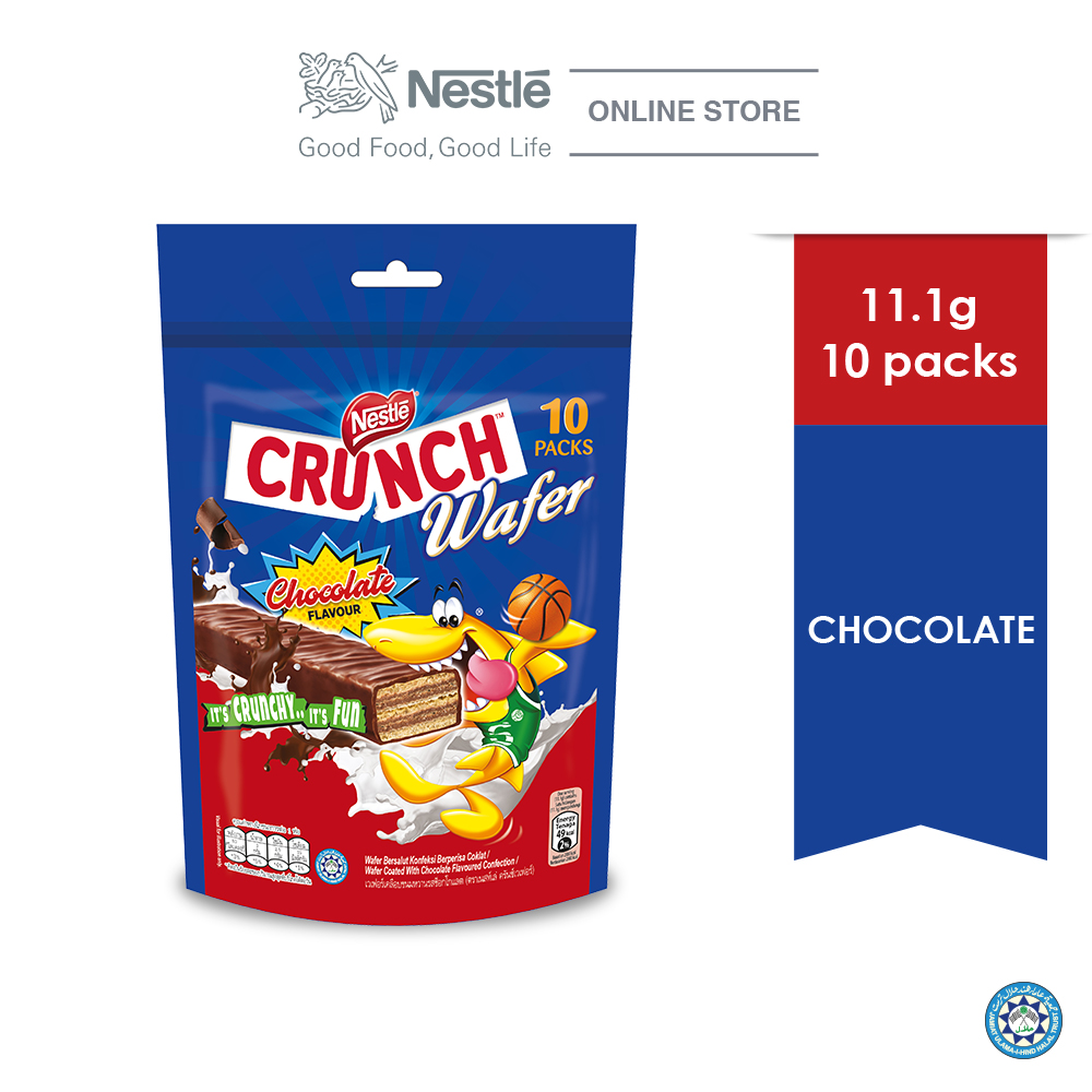 Nestle Crunch Wafer Chocolate Sharebag 10s (10 sticks x 11.1g)