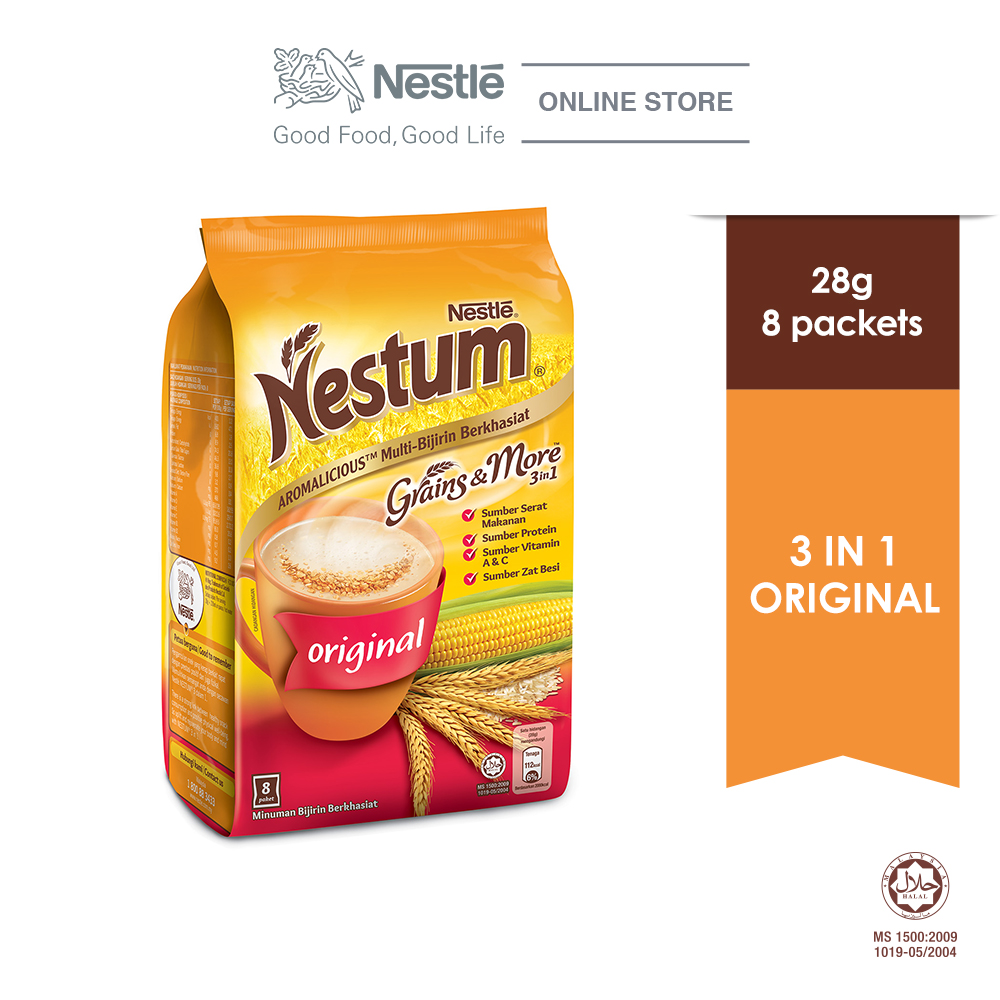 NESTLÉ NESTUM Grains & More 3in1 Original (8 Packets 28g)