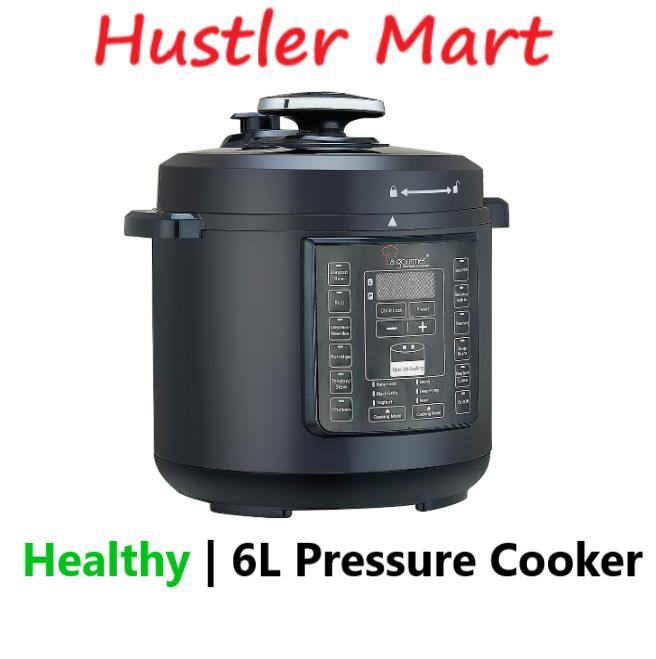 La gourmet Healthy Pressure Cooker 6L Free 6 Kitchen Appliances