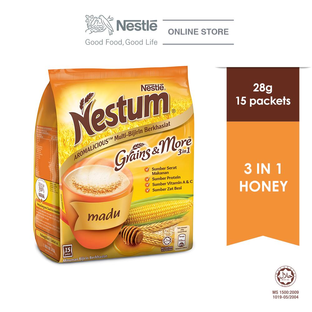 NESTLÉ NESTUM Grains & More 3in1 Honey 15 Packets 28g