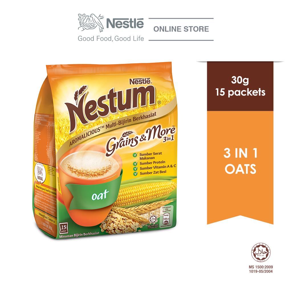 NESTLÉ NESTUM Grains & More 3in1 Oats 15 Packets 30g