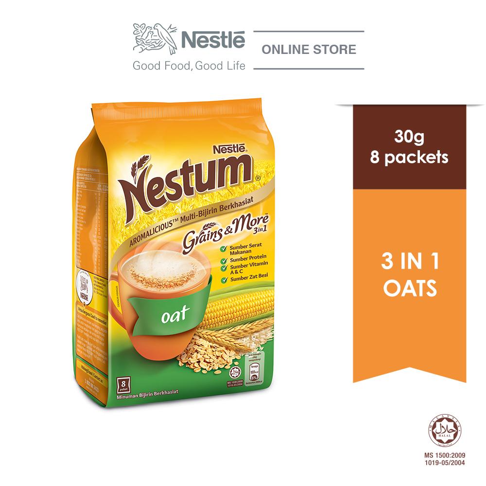 NESTLÉ NESTUM Grains & More 3in1 Oats 8 Packets 30g