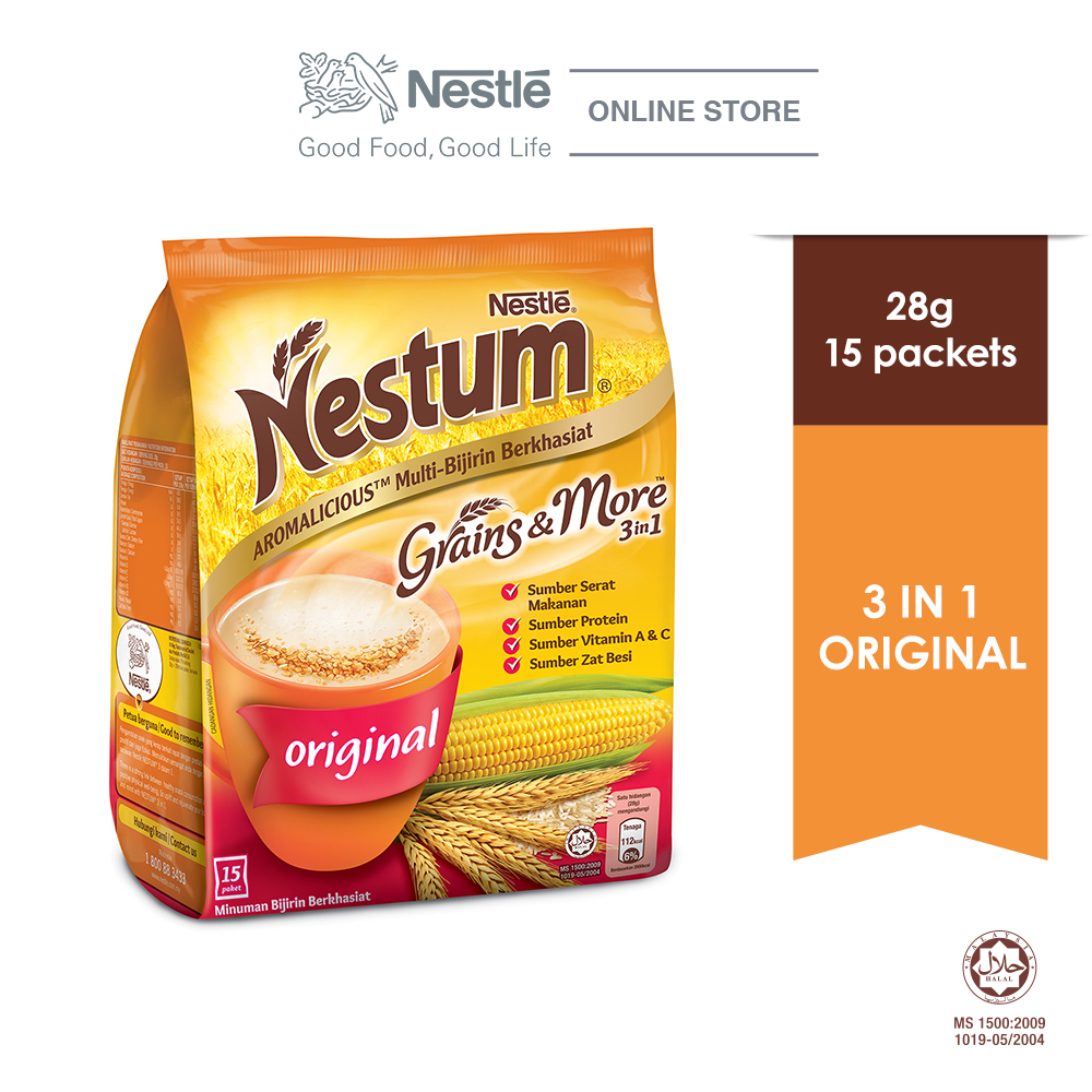 NESTLÉ NESTUM Grains & More 3in1 Original 15 Packet 28g