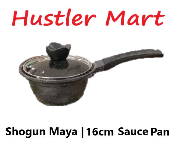 La gourmet Shogun Maya 16 x 8.5cm Sauce Pan with glass lid