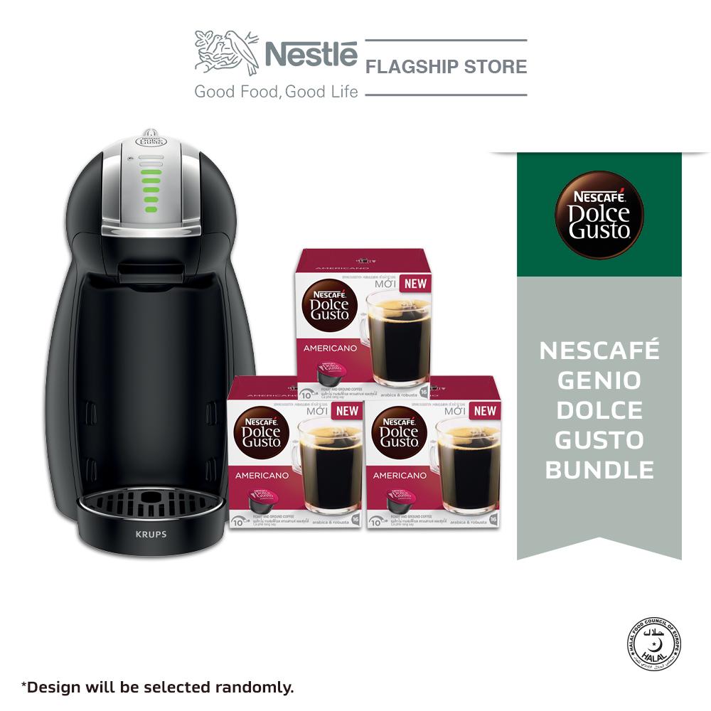NESCAFE Genio 2 Machine and Dolce Gusto Americano Coffee 3boxes Bundle