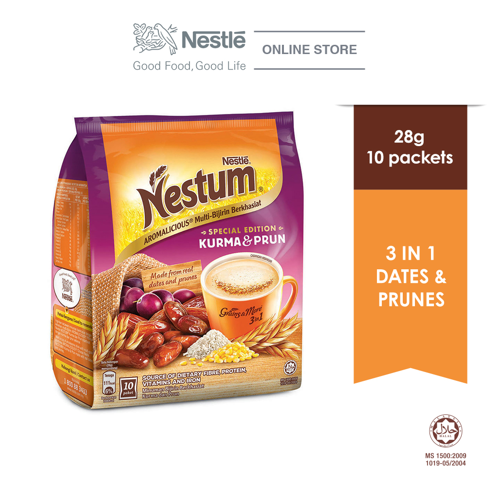 NESTLE NESTUM Grains  More  3in1 Kurma  Prun (28g x 10 packets)