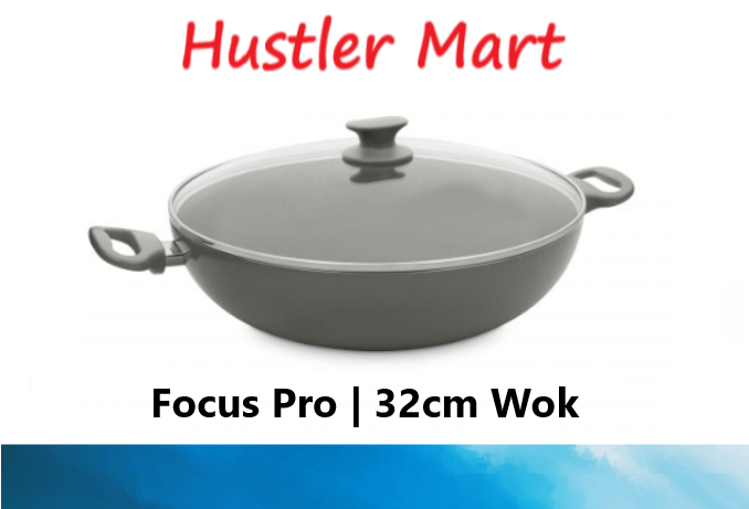 GreenPan Focus Pro 32cm Ceramic Non-Stick Wok