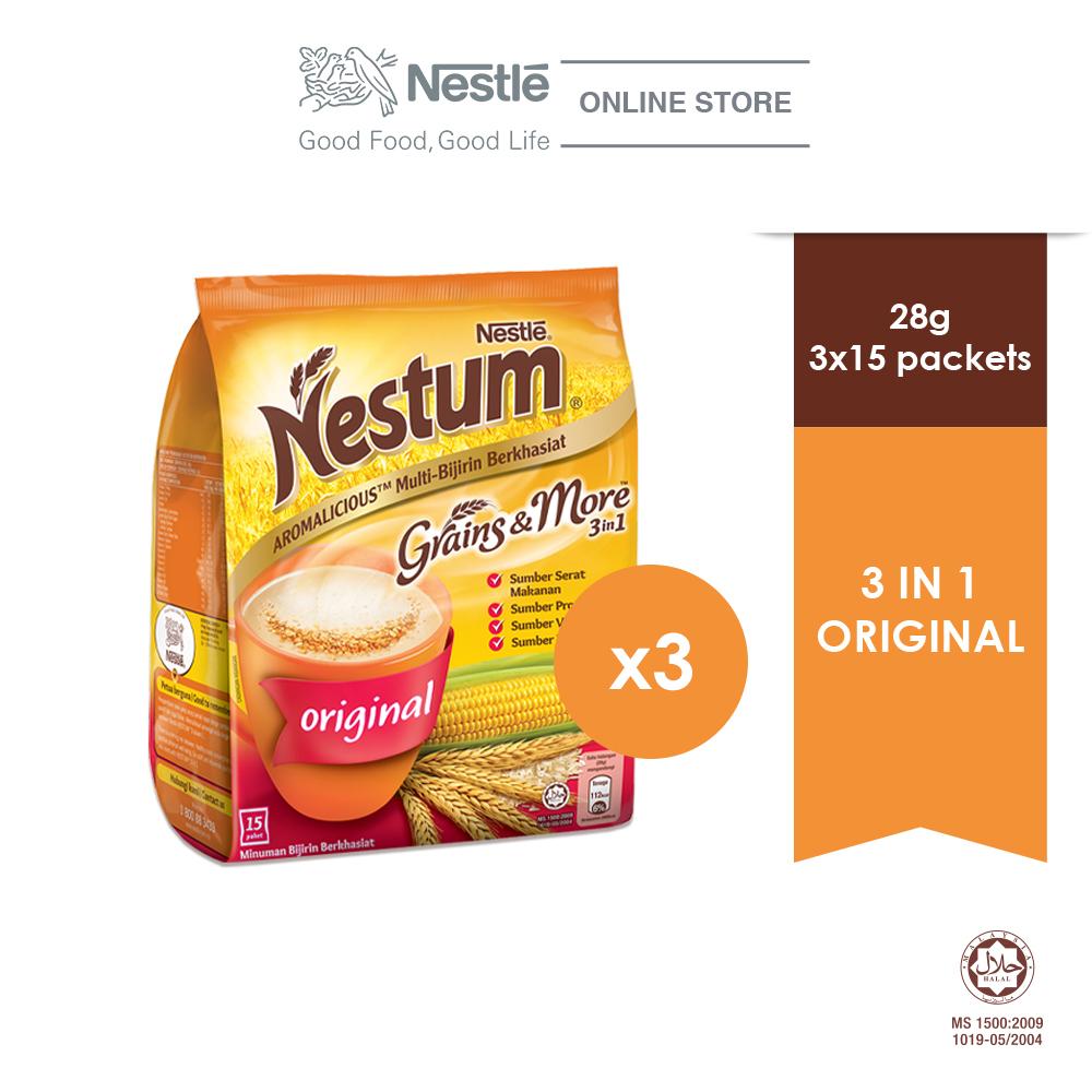NESTLE NESTUM Original 3in1 15s, 28g Bundle of 3