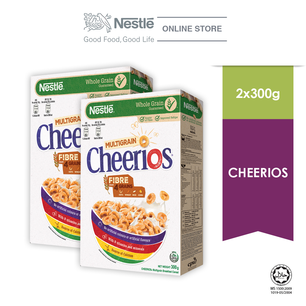 NESTLE CHEERIOS Cereal Large Box (300g x 2 boxes)