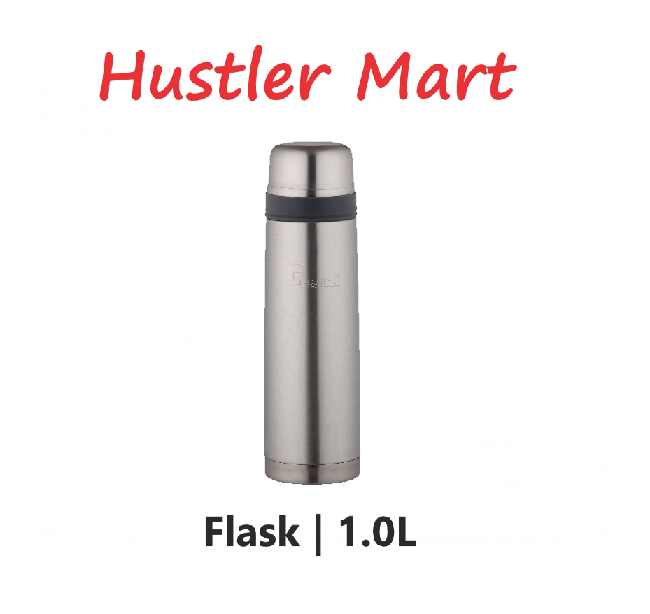 La Gourmet Classic 1.0L Thermal Flask and Special Reflective Stainless Steel