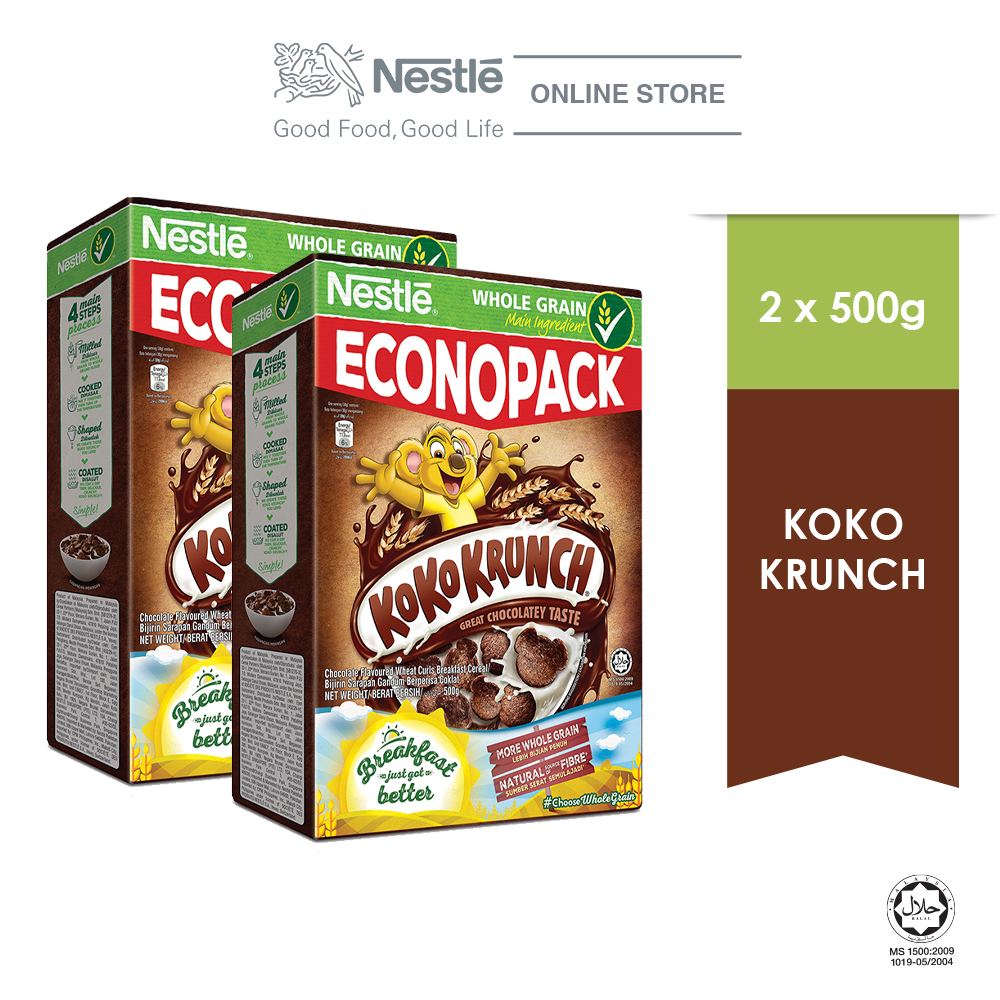 NESTLE KOKO KRUNCH Cereal Econopack 500g Bundle of 2