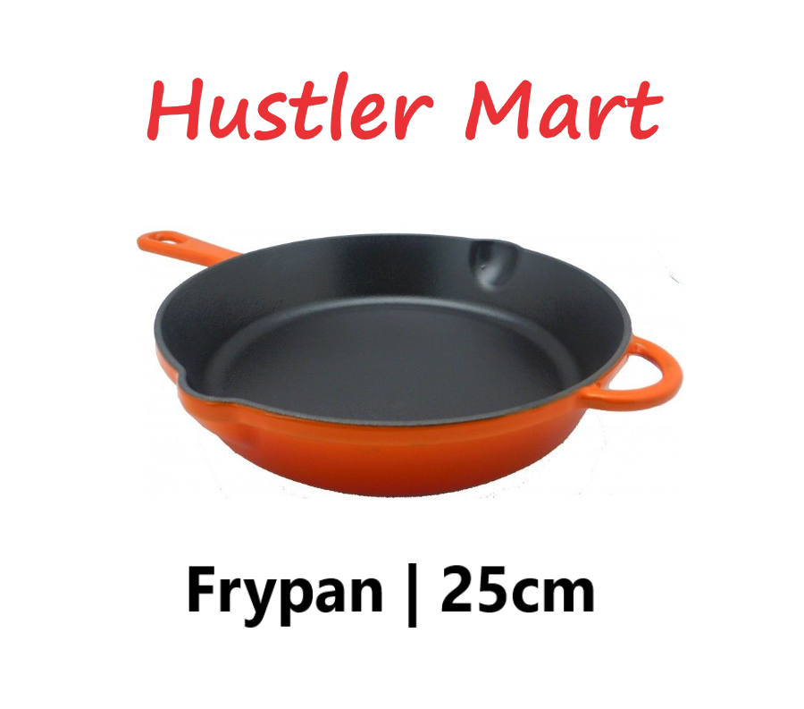 La Gourmet 25cm Cast Iron Frypan - Orange