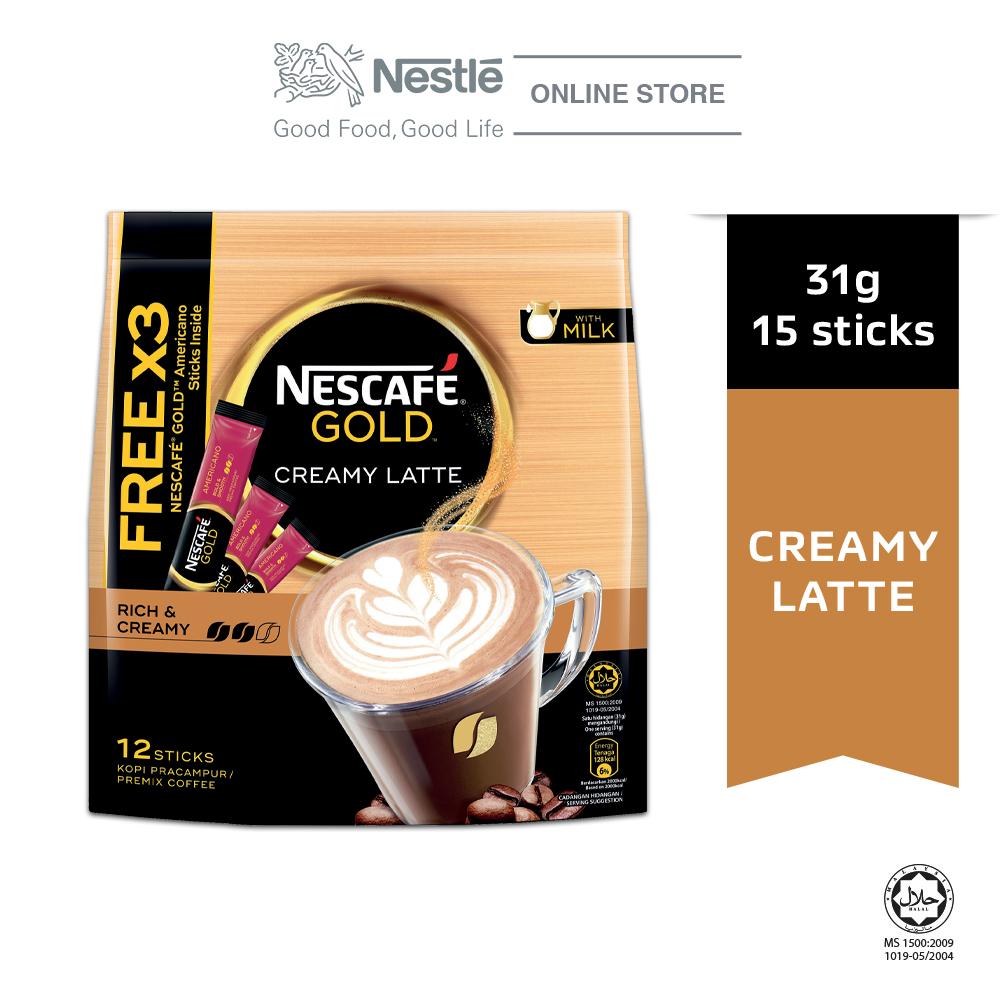 Nescafe Gold Creamy Latte 12x31g Free 3Sticks Gold Americano