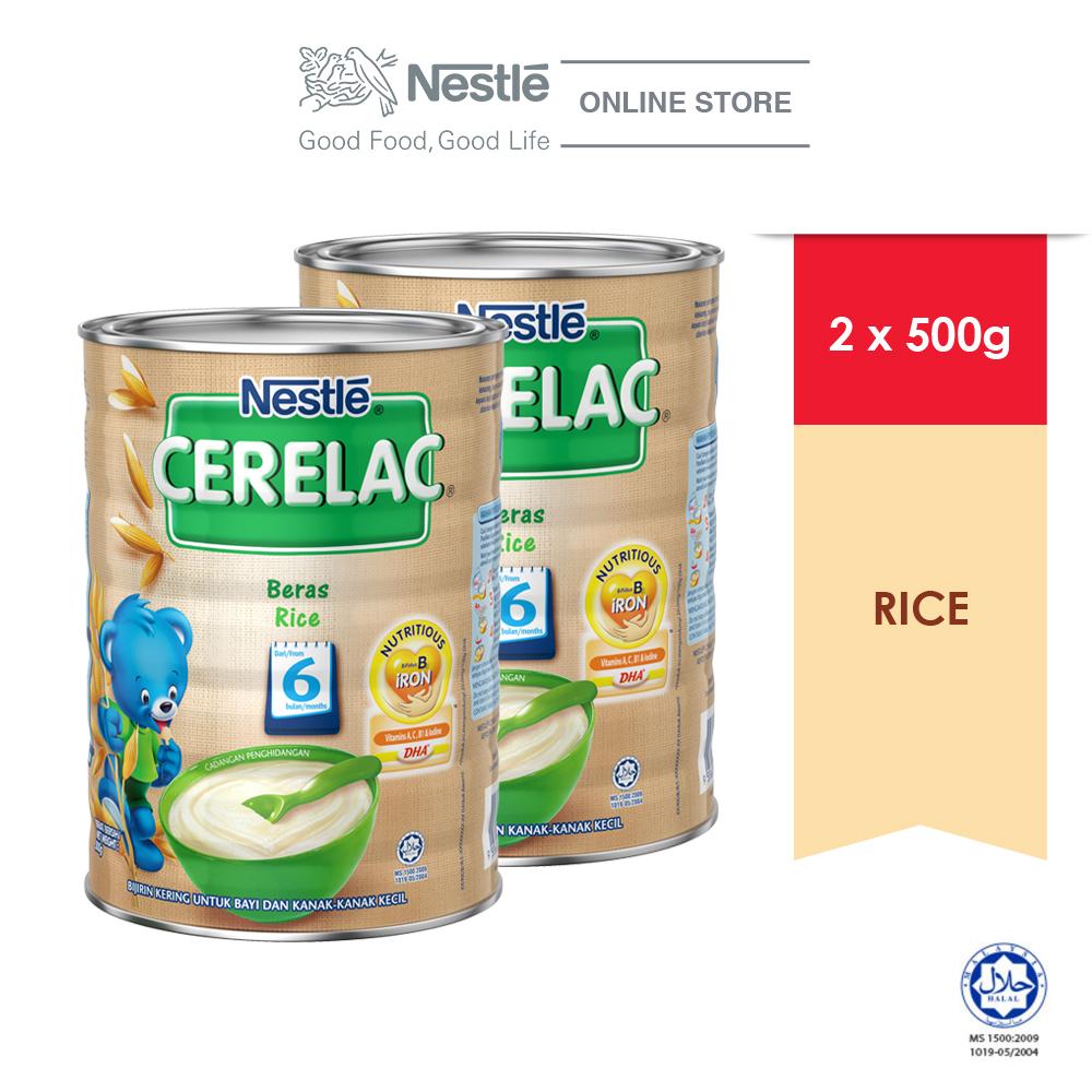 NESTLE CERELAC Rice Infant Cereal Tin 500g x2 tins ExpDate:DEC'20