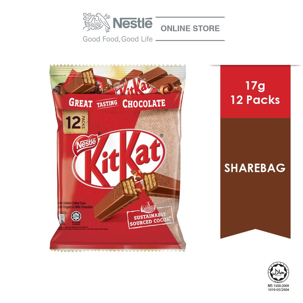NESTLÉ KITKAT 2F Chocolate Share Bag 12's ExpDate:NOV'20