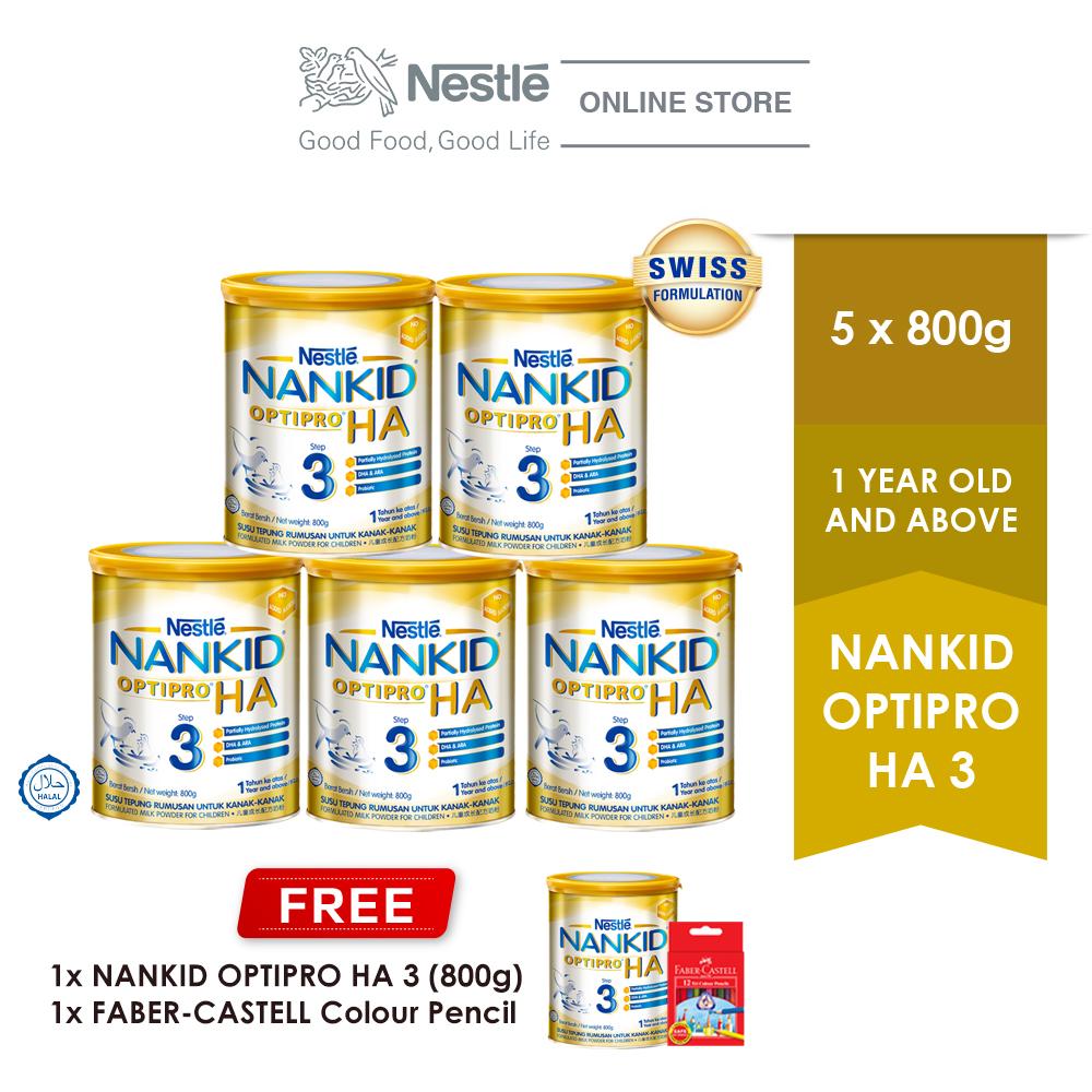 Nestle Nankid Optipro HA Stage 3 Hypoallergenic 800g, Buy 5 Free1