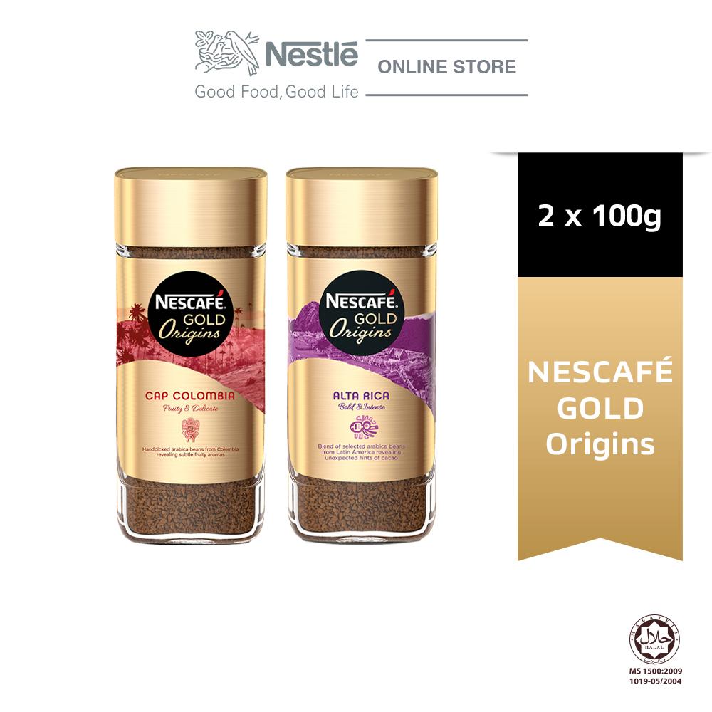 Nescafe Gold Origins Alta Rica Coffee and Colombia Coffee Bundle
