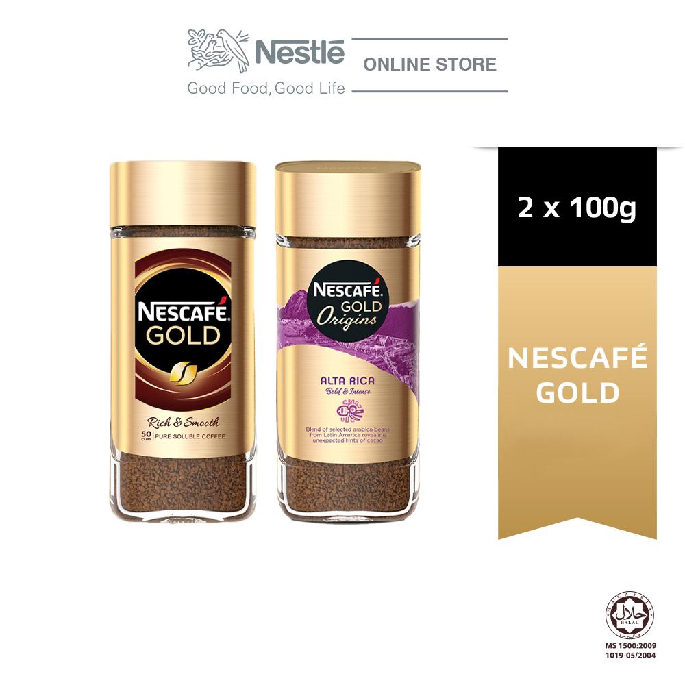 Nescafe Gold Jar 100g and Nescafe Gold Alta Rica Coffee 100g Bundle