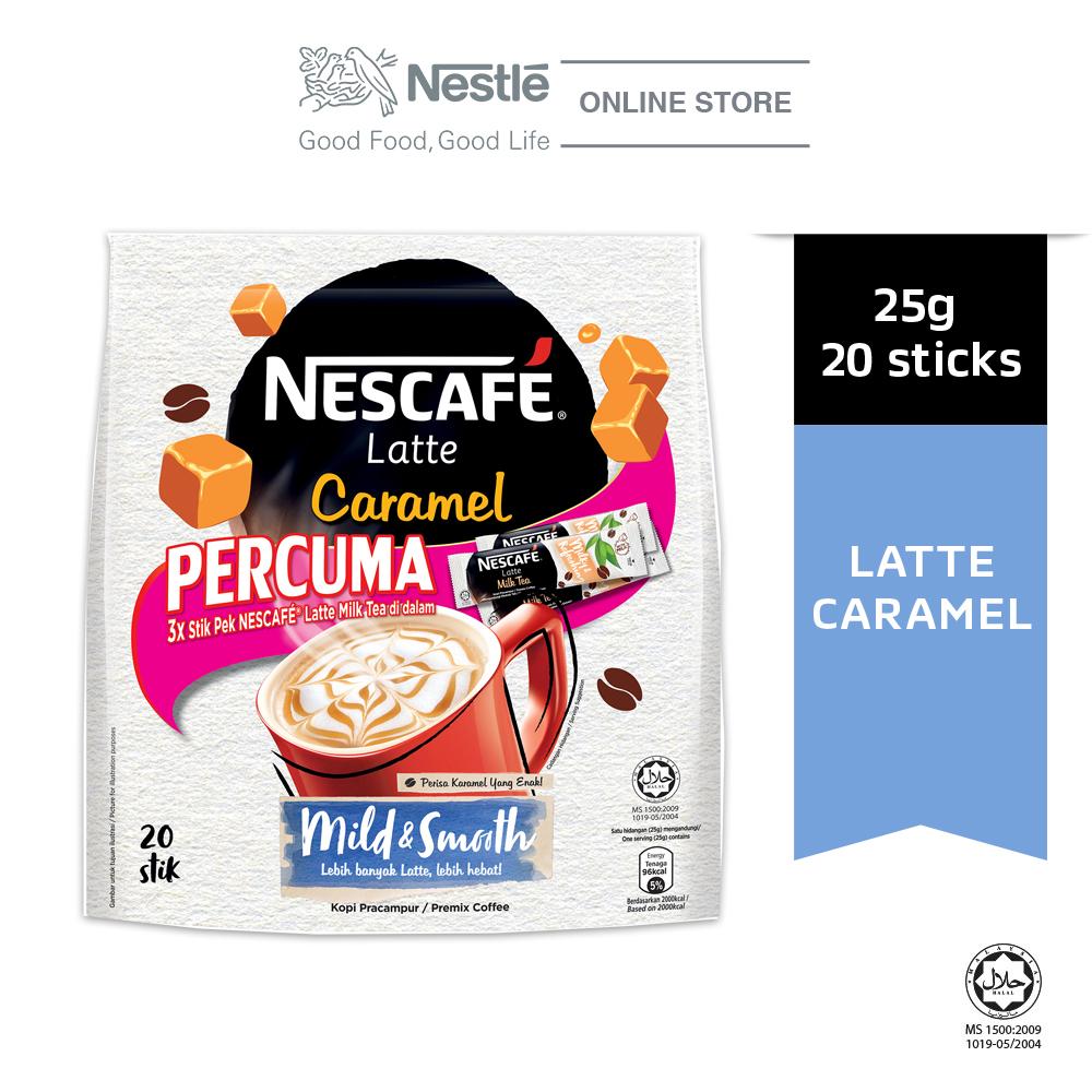 Nescafe Latte Caramel 15x31g Free 3Sticks Latte Milk Tea
